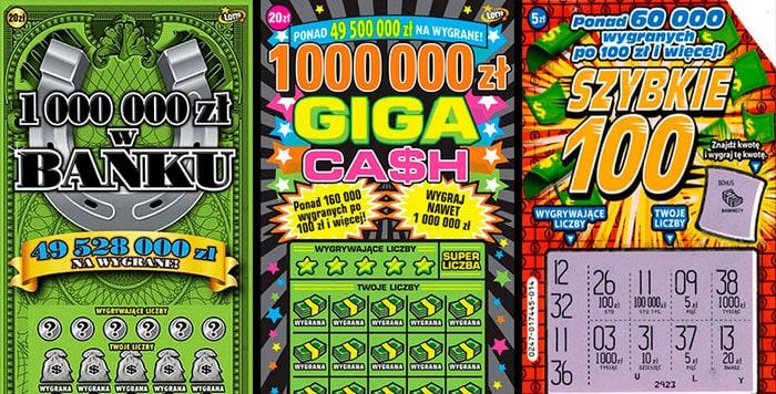 zdrapki online lotto na prawdziwe pieniądze